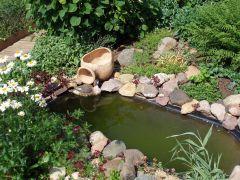 Как сделать прудики из старых ванн на даче
