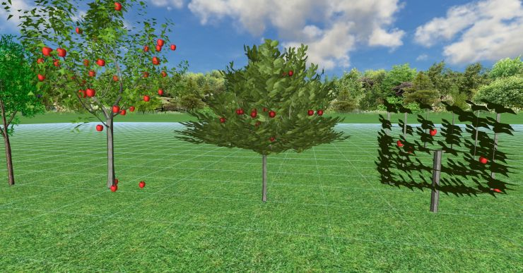 3d модели яблонь для Realtime landscaping architect