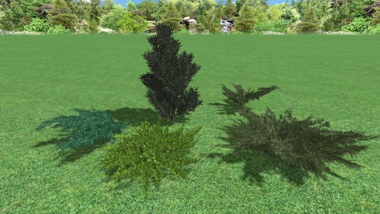 можжевельник 3d model juniperus realtime landscaping architect